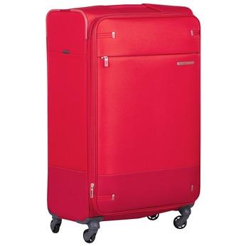 Velký červený textilní kufr samsonite, červená, 960-5041 - 13