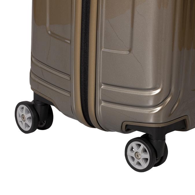 Cestovní zlatý skořepinový kufr samsonite, zlatá, 960-8023 - 15