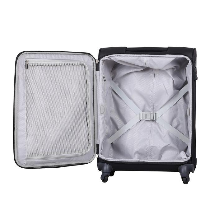 Černý kvalitní textilní kufr samsonite, černá, 960-6037 - 17