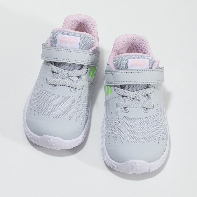 Šedo-růžové dětské sportovní tenisky nike, šedá, 109-1259 - 16