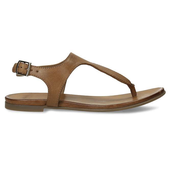 Hnědé kožené dámské sandály bata, hnědá, 564-3603 - 19