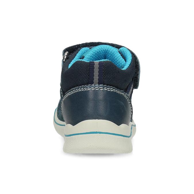 Dětské modré kožené tenisky bubblegummers, modrá, 113-9637 - 15