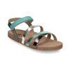 Kožené dětské sandály na suchý zip mini-b, tyrkysová, 466-7611 - 13