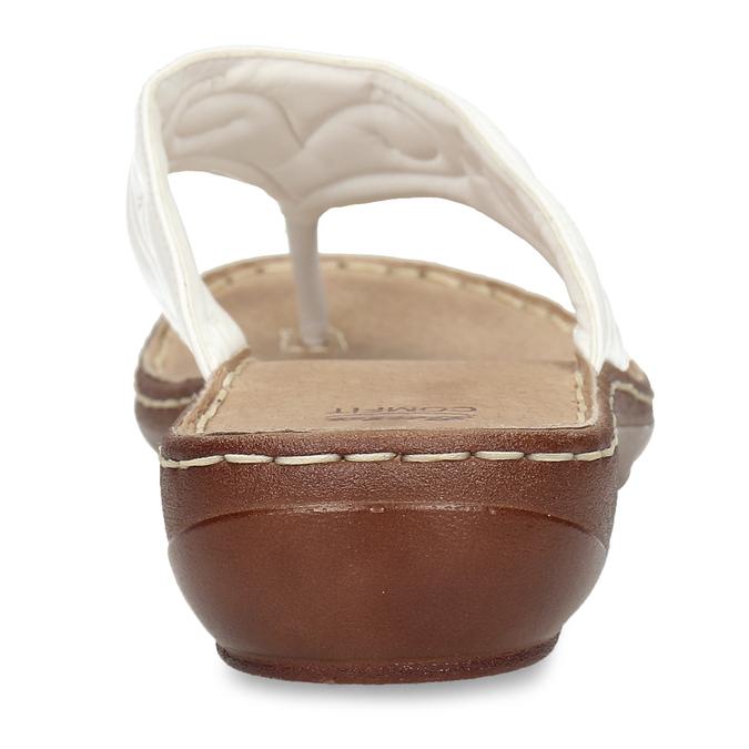 Dámské kožené žabky bílé bata, bílá, 566-1600 - 15