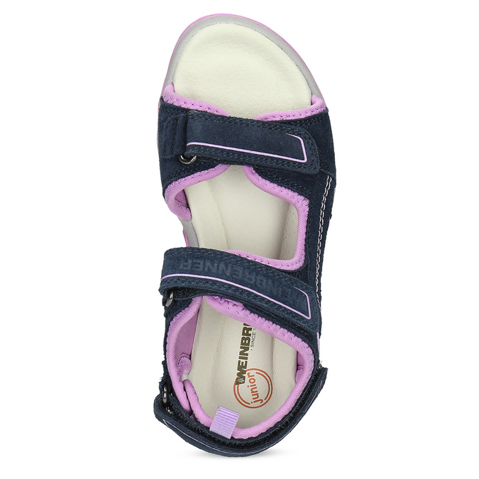 Dívčí sandály kožené weinbrenner, modrá, 463-9708 - 17
