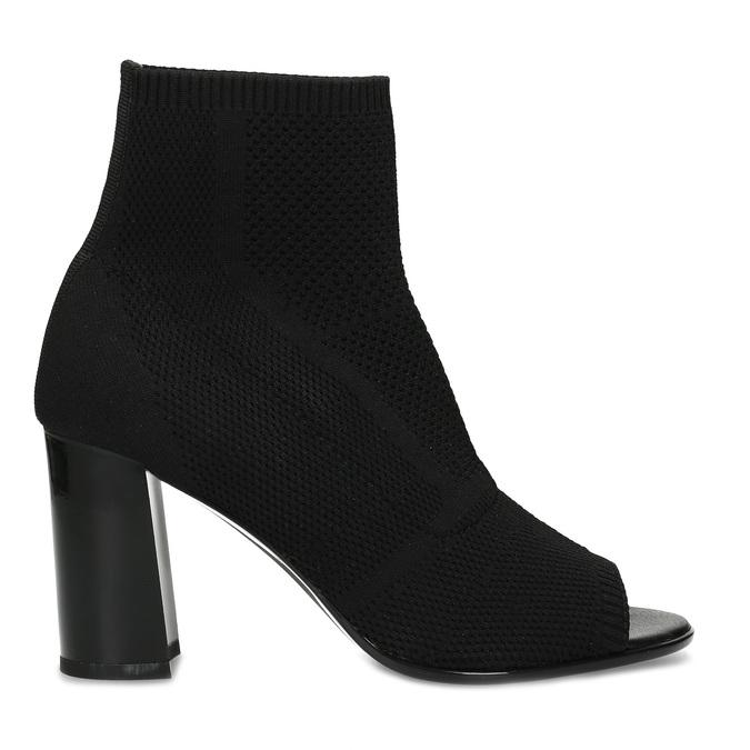 Černé dámské kozačky na stabilním podpatku bata-b-flex, černá, 799-6646 - 19