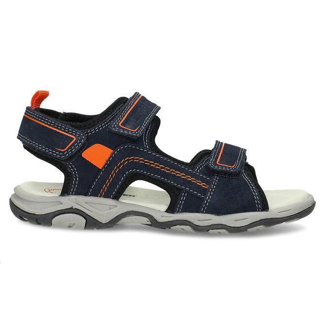 Sandály modré kožené weinbrenner, modrá, 463-9618 - 19