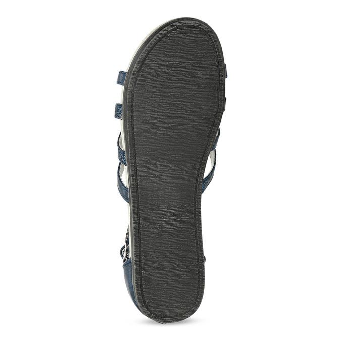 Dívčí sandály z kůže mini-b, modrá, 461-9620 - 18