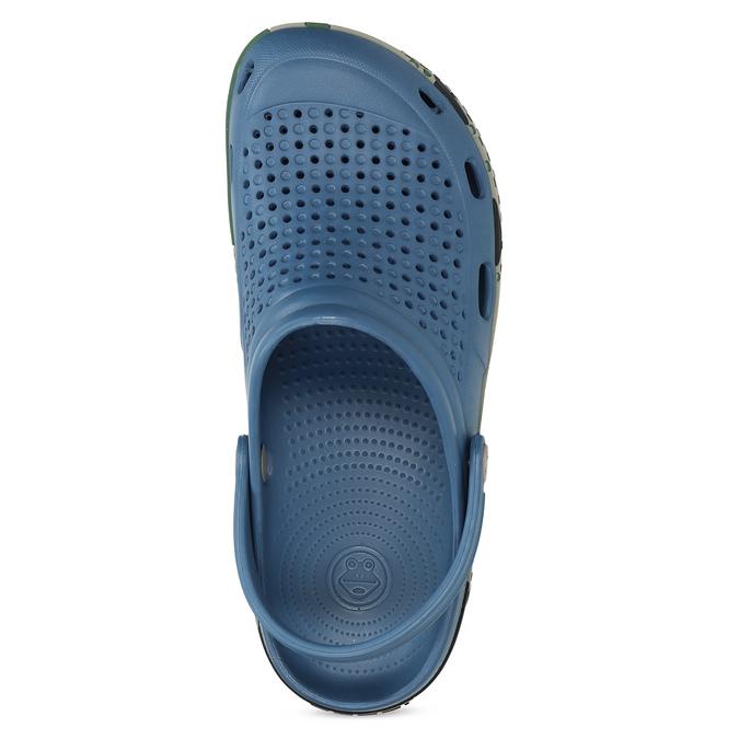 Modré pánské sandály typu Clogs coqui, modrá, 872-9618 - 17