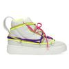 Bílé kotníčkové tenisky s barevnými tkaničkami bata, bílá, 544-1114 - 19