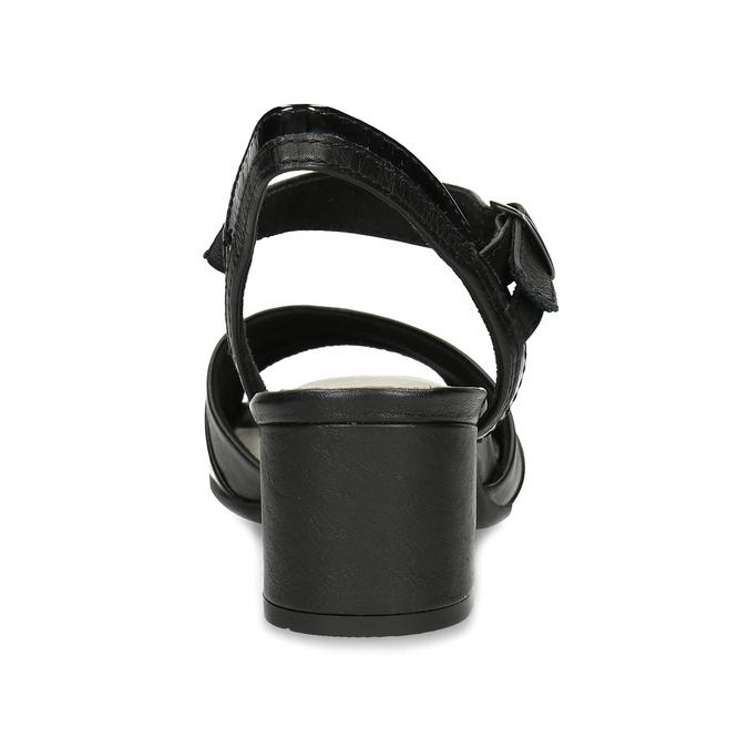 Dámské nazouváky na podpatku bata, černá, 664-6602 - 15