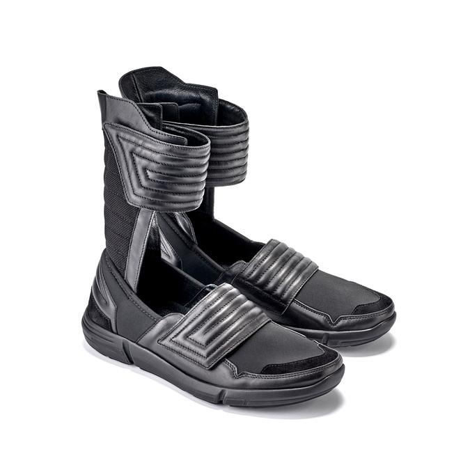 Vysoké pánské tenisky se suchými zipy bata, černá, 844-6745 - 26