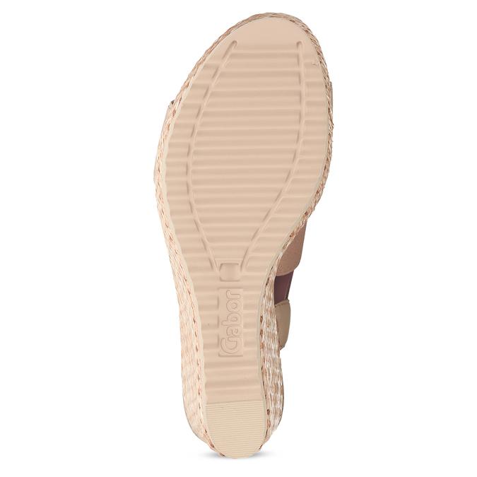 Růžové dámské sandály na přírodní platformě gabor, růžová, 769-5646 - 18