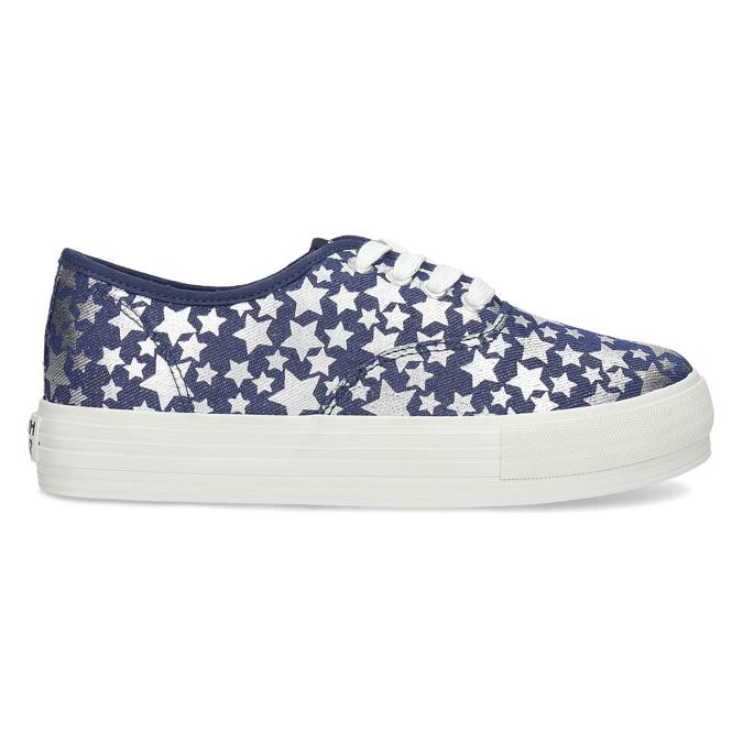 Modré dámské tenisky s hvězdičkami north-star, modrá, 649-9604 - 19