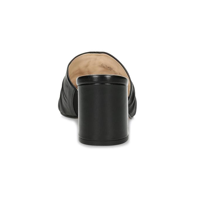 Kožené nazouváky na stabilním podpatku hogl, černá, 664-6018 - 15
