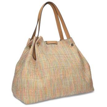 Béžová dámská kabelka s barevným protkáním bata, béžová, 969-8942 - 13