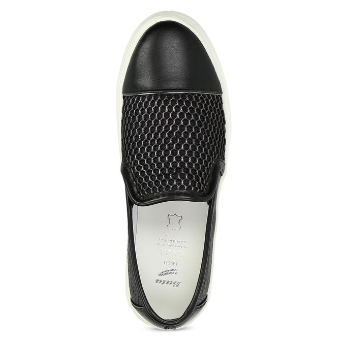 Černá dámská Slip-on obuv se strukturou bata-light, černá, 511-6615 - 17