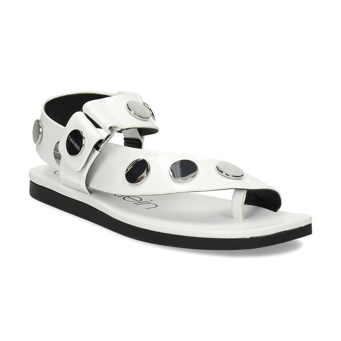 c53c0eb1b4 Calvin Klein Dámské bílé sandály s kovovými detaily - Všechny boty ...
