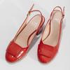 Červené lakované lodičky bata, červená, 628-5632 - 16