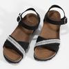 Černé kožené sandály s perličkami bata, černá, 666-6603 - 16