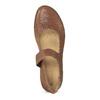 Hnědé dámské kožené baleríny s prošitím el-naturalista, hnědá, 546-4159 - 17
