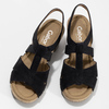 Černé dámské sandály z broušené kůže gabor, černá, 663-6603 - 16