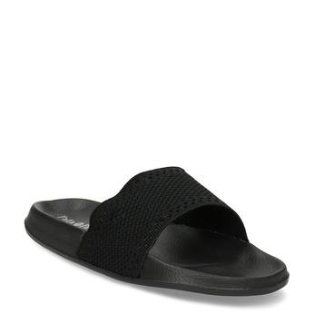 Černé dámské textilní nazouváky pata-pata, černá, 579-6689 - 13
