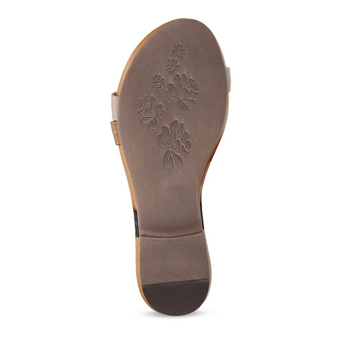 Kožené nazouváky hnědé bata, hnědá, 564-0600 - 18