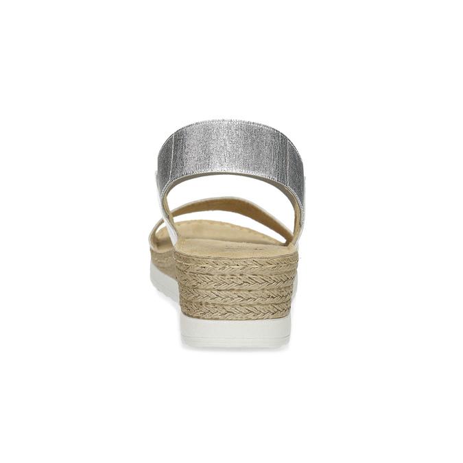 Kožené sandály na klínku bílé bata, bílá, 664-1600 - 15