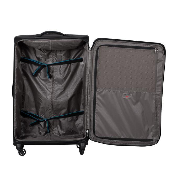 Černý cestovní kufr na kolečkách roncato, černá, 969-6739 - 17