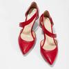Kožené Lodičky s páskem bata, červená, 724-5904 - 16