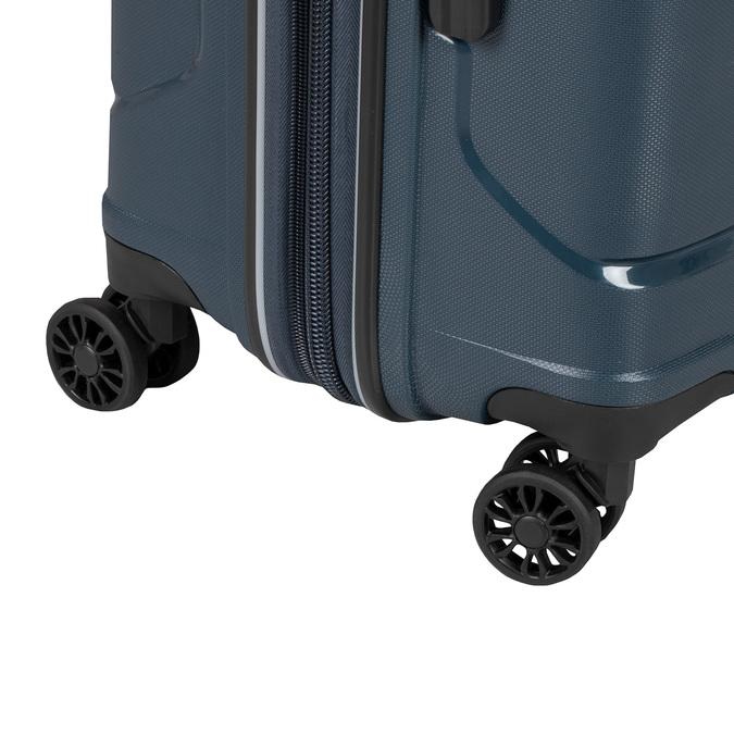Modrý cestovní kufr na kolečkách roncato, modrá, 960-9617 - 15