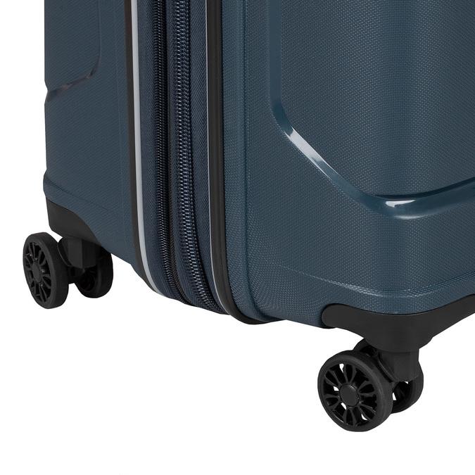 Cestovní modrý kufr na kolečkách roncato, modrá, 960-9618 - 15