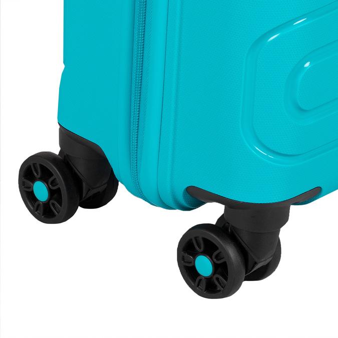 Modrý cestovní kufr na kolečkách american-tourister, modrá, 960-9624 - 15