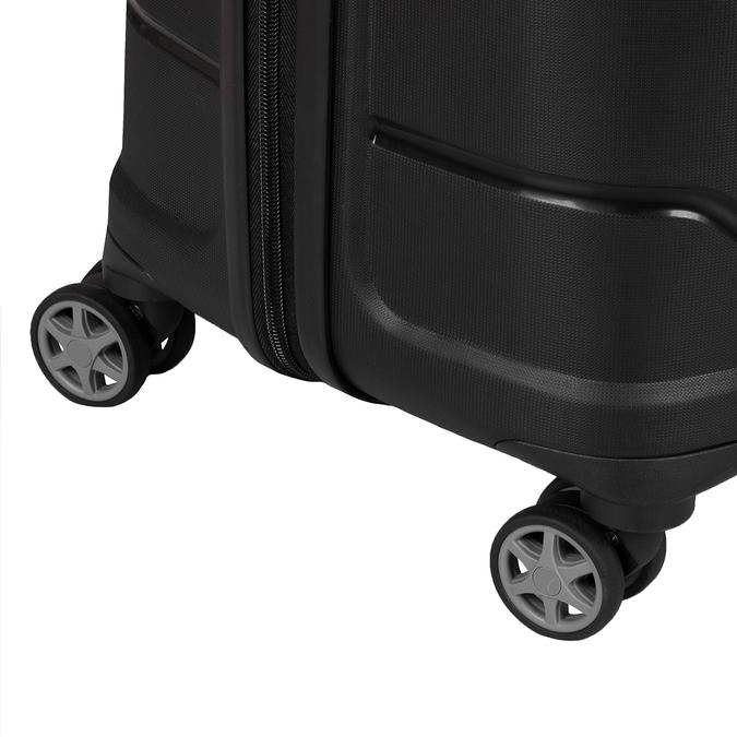 Černý cestovní kufr na kolečkách samsonite, černá, 960-6623 - 15