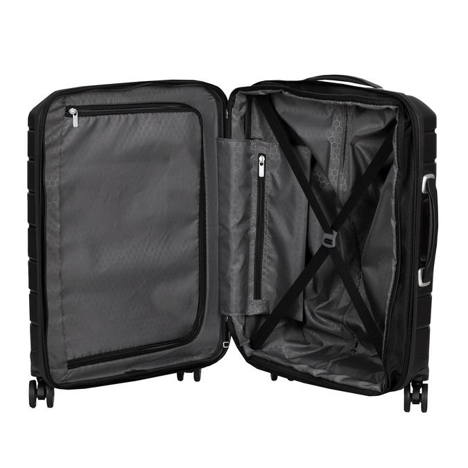Černý cestovní kufr na kolečkách samsonite, černá, 960-6619 - 17