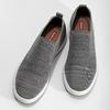 Pánské šedé úpletové slip-on tenisky bata-red-label, šedá, 839-2605 - 16