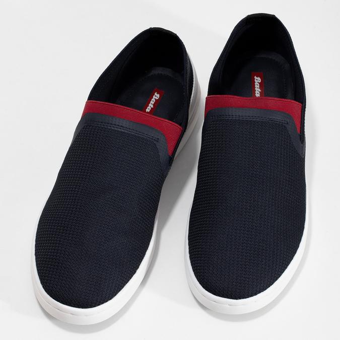 Slip-on pánské tenisky tmavě modré bata-red-label, modrá, 839-9604 - 16