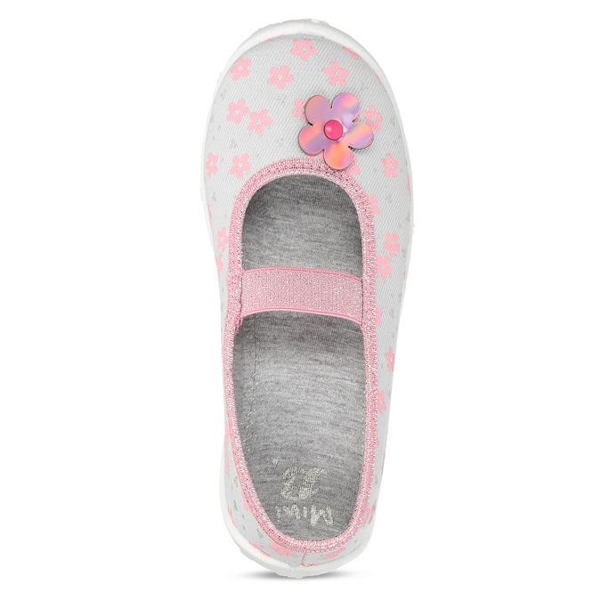 Šedé dětské přezůvky s růžovými detaily mini-b, šedá, 379-2603 - 17