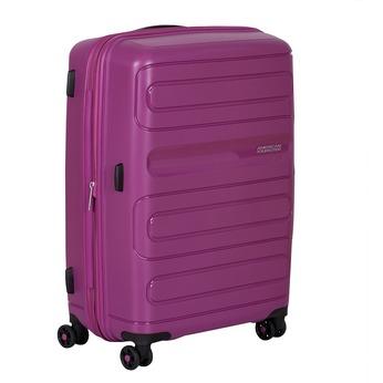 Střední růžový kufr na kolečkách american-tourister, fialová, 960-5625 - 13