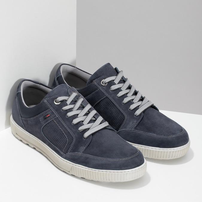 Kožené tmavě modré tenisky bata, modrá, 846-9600 - 26