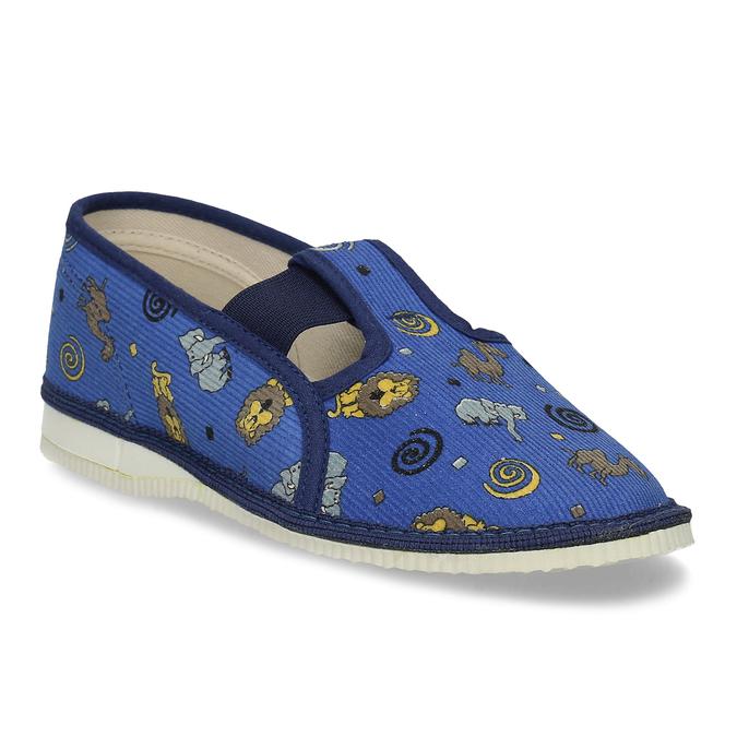 Dětské modré přezůvky se vzorem bata, modrá, 379-9616 - 13