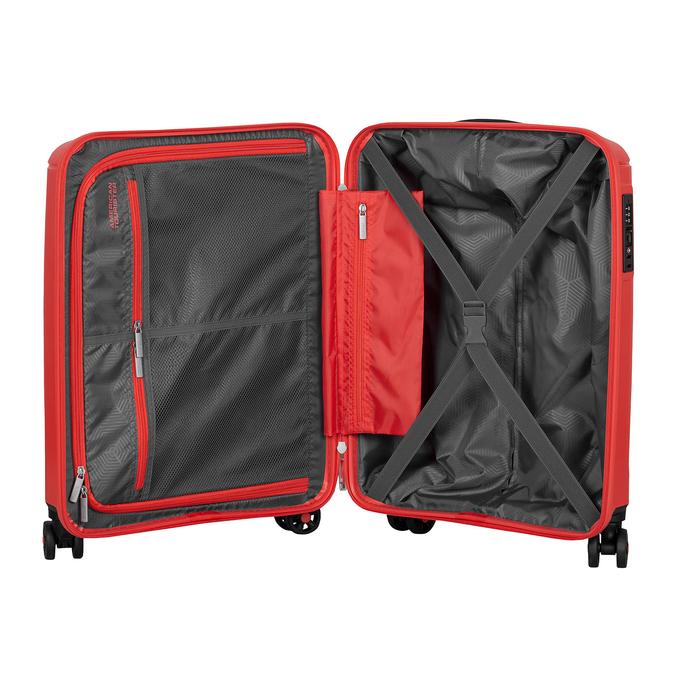 Červený cestovní kufr na kolečkách american-tourister, červená, 960-8624 - 17