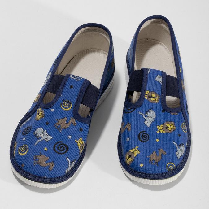Dětské modré přezůvky se vzorem bata, modrá, 379-9616 - 16