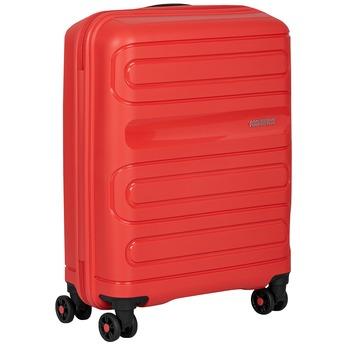 Červený cestovní kufr na kolečkách american-tourister, červená, 960-8624 - 13
