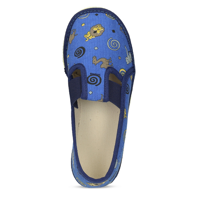 Modré dětské přezůvky se vzorem bata, modrá, 279-9619 - 17