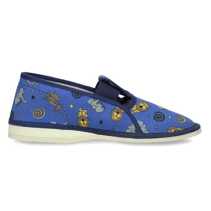 Dětské modré přezůvky se vzorem bata, modrá, 379-9616 - 19