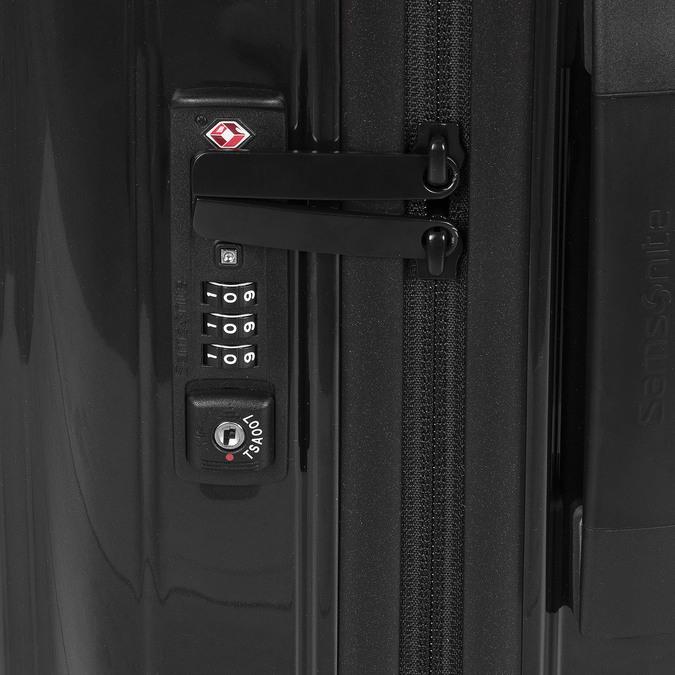 Skořepinový kufr na kolečkách samsonite, černá, 960-6031 - 15