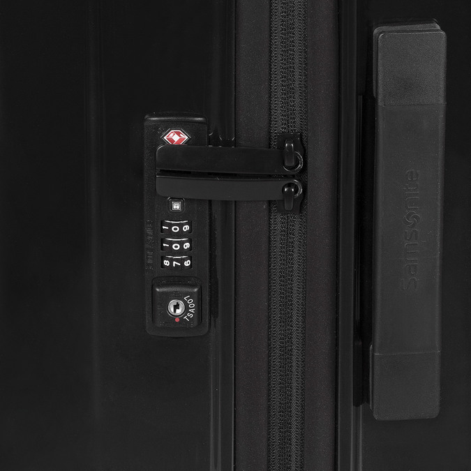 Černý skořepinový kufr na kolečkách samsonite, černá, 960-6033 - 15