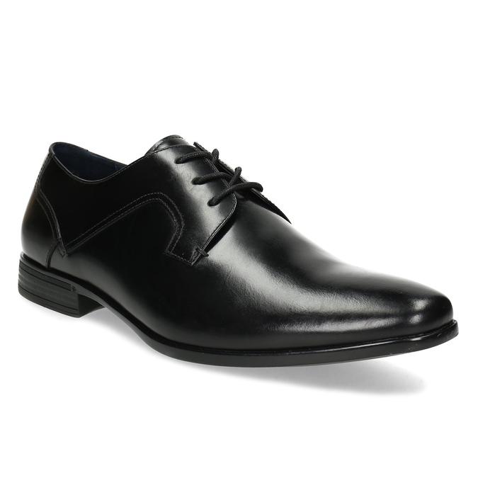 Černé pánské kožené Derby polobotky bata, černá, 824-6902 - 13